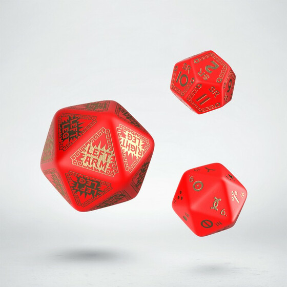Runequest Expansion Dice Red/Gold
